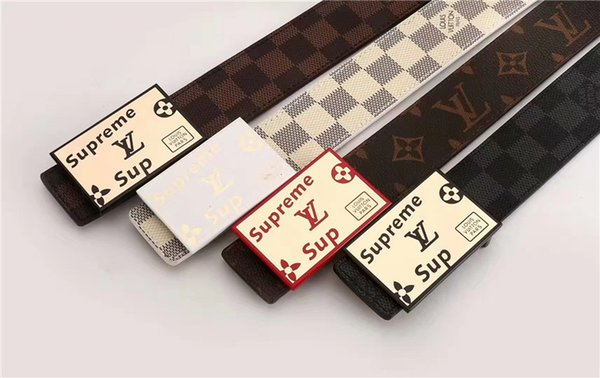 Botón liso original de marca para hombre y mujer. Cinturón casual versátil. Diseñadores de diseño para hombres y mujeres envío gratis.