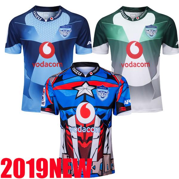 2019 BULLS SUPER RUGBY HERO JERSEY Nouvelle-Zélande Stormman Vêtements de football Australie Super maillot Rugby Stormers 2020 Bulls Sharks Jersey