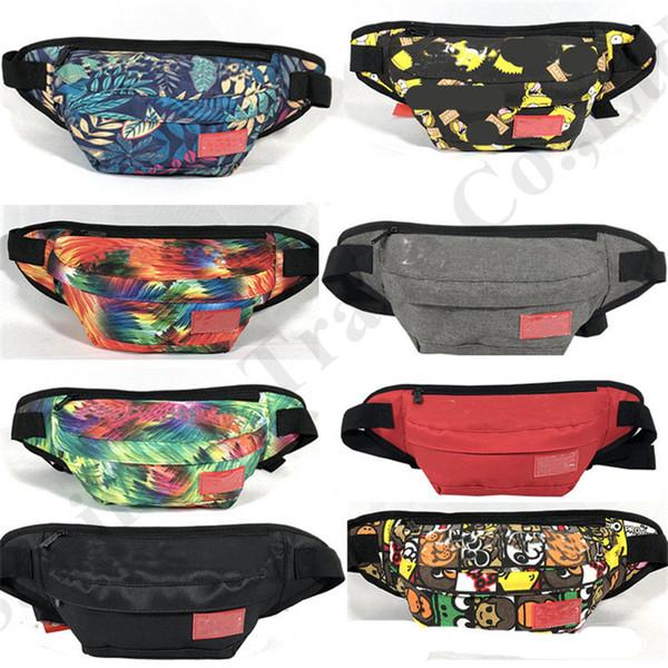 top popular 70 Styles Canvas Crossbody Shoulder Bag Sup Letter Print Unisex Fanny Pack Belt Waist Bag Fashion Travel Chest Package Phone Pouch C6602 2019