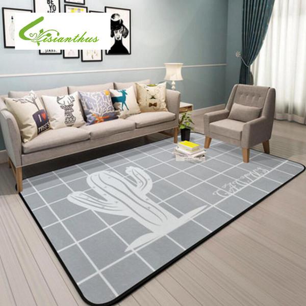 Großhandel Nordic Niedlichen Cartoon Teppiche Für Wohnzimmer Schlafzimmer  Stuhl Bereich Teppich Teppich Kinderzimmer Spielzelt Kinder Weichen ...