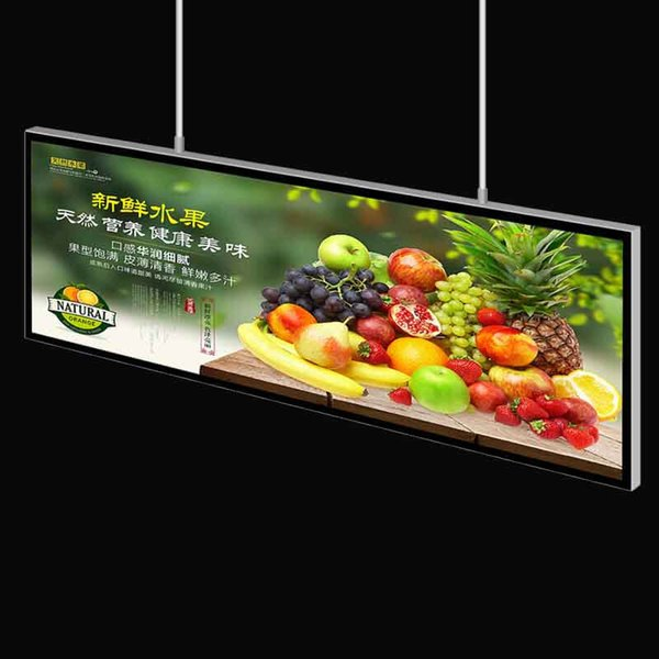 80*120cm Large Magnetic Double Sided Lightbox Signs for Information Display Featuring 42mm Thickness Aluminum Frame with Wooden Case Packing