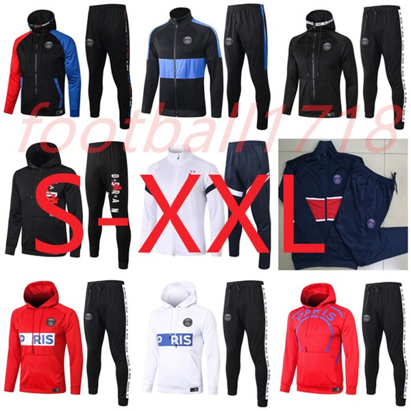 top popular S-XXL 2019 2020 Jordam X PSG hoodie jacket Survetement 19 20 Paris MBAPPE football jackets air jordam soccer TRACKSUIT 2020