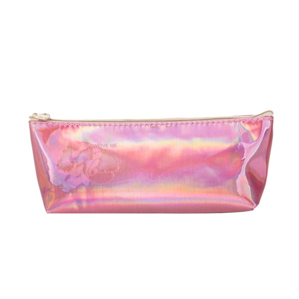 Iridescent Pencil Case Quality Pu School Supplies Stationery Gift Holographic Pencil Bag School Cute Box Tools