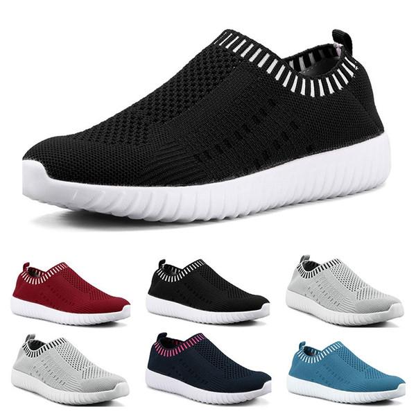 En çok satan büyük boy kadın ayakkabıları ayakkabıları yirmi çalışan dokuma spor ayakkabılar bir ayak nefes alabilen hafif gündelik spor ayakkabıları uçan