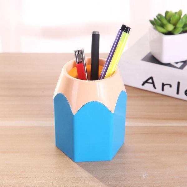 Yeni Mini Kalem Pot Tutucu Kalem Depolama Vazo Kırtasiye Hediye Kupası Makyaj Fırça Konteyner Kutu Danışma Organizatör