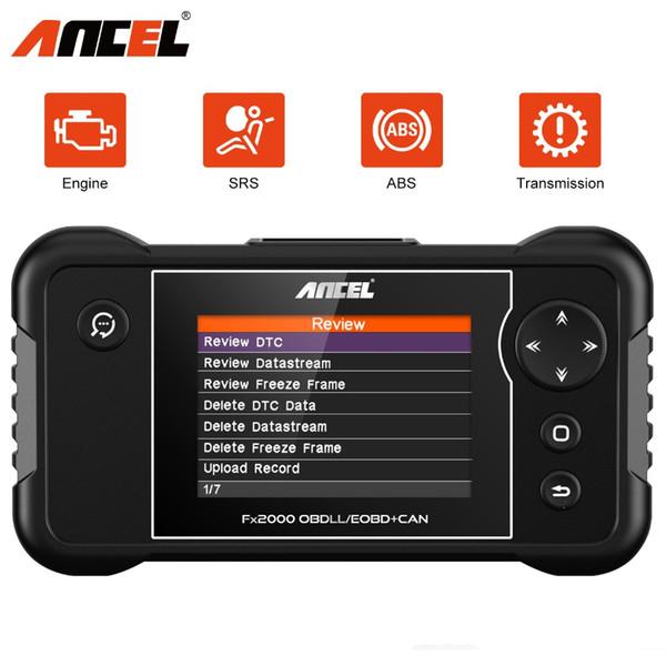 Ancel FX2000 OBD2 Scanner Diagnostic 4 System Engine ABS Airbag Transmission 8 Languages Car Diagnostics Tool Free Update