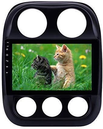 GPS Araç Radyo Stereo Android 9.0 10.1 İnç Bluetooth Ayna Bağlantı WiFi USB 2010-2016 Jeep Compass GPS Navigasyon için