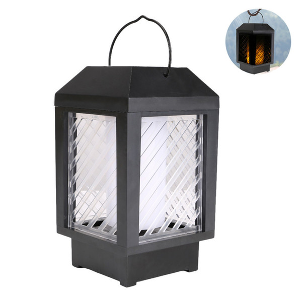 Cross Border Solar Energy Courtyard Lamp Scenery Decoration Wall Lamp Light Control Garden Lantern Flame Lamp