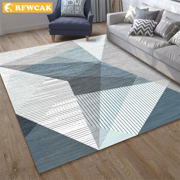 Acquista RFWCAK Modern Geometric Living Room Tappeto Camera Da Letto  Antiscivolo Tappeto Tappeto Tappeto Bambini Tappeti Tappeti Cucina Di Moda  A ...