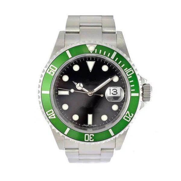 Venta caliente reloj masculino 16610 anillo verde reloj mecánico automático anillo interior ninguna palabra JF boutique 40mm reloj de lujo 3135