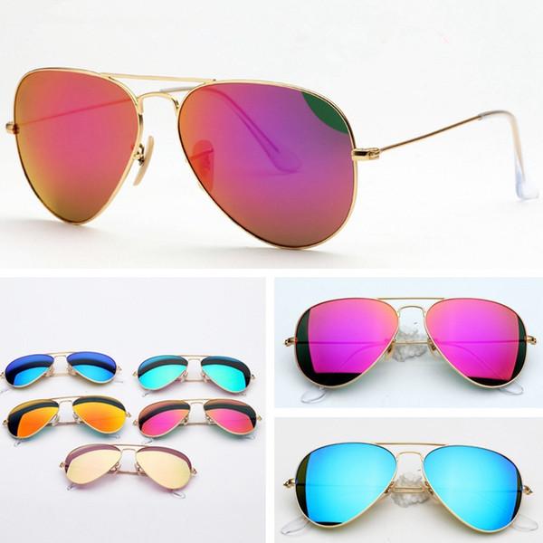 Fashion Full Frame Polarized Sunglasses Classic Men Driver Pilot Design UV400 Glass Retro Woman Double Beam Sun Glasses TTA996