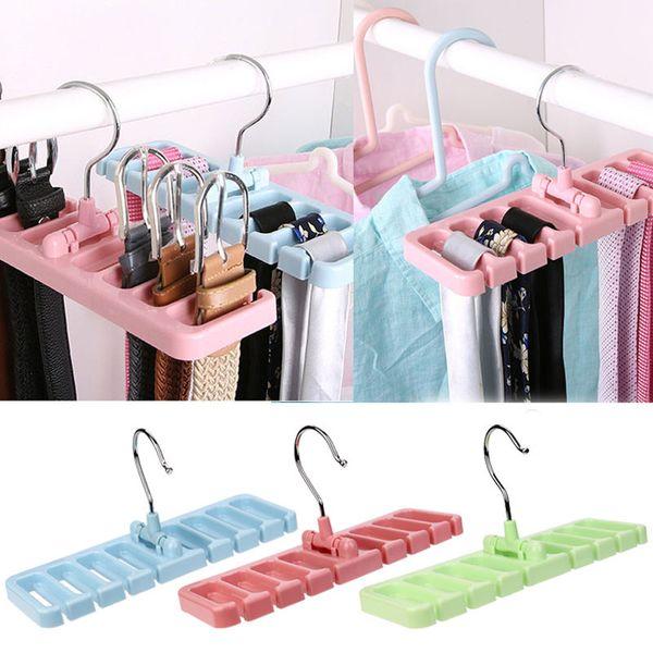 Storage Rack Tie Belt Organizer Space Hook Organizer Holder Rack Storage Hanger Wardrobe Belt Tie Scarf