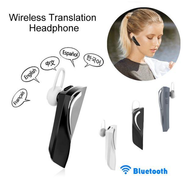 2019 Nuova pratico traduttore T1 Wireless Headset Tempo reale intelligente Auricolare Bluetooth 5.0 26 Lingua Immediata la traduzione vocale