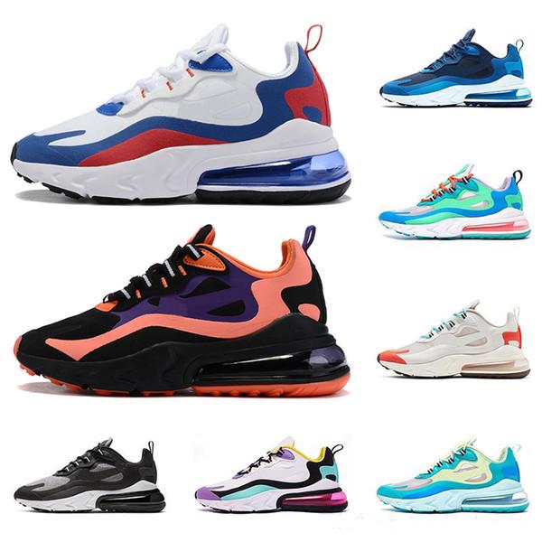 Acheter Nike React Air Max 270 Tn Hommes Baskets Triple BAUHAUS OPTICAL BLEU VOID Blanc Presto Femmes Designer Sports De Plein Air Chaussures Zapatos