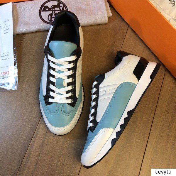 2019QP new men s casual sports shoes, low to help luxury men s outdoor travel sneakers, original box packaging fast delivery