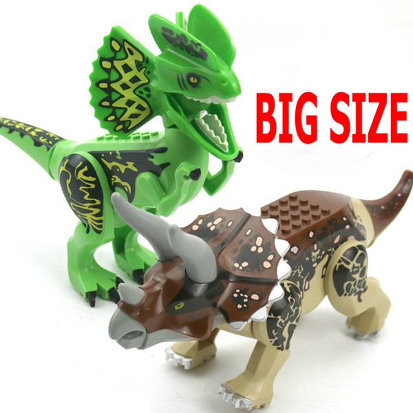 Jurassic World Park Dinosaur world Figures Tyrannosaurs Rex Building Blocks baby Toys For Children Marvel