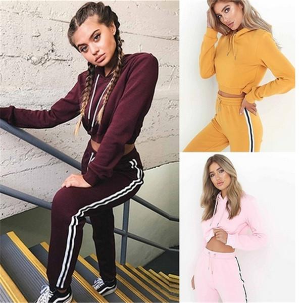 Mulheres de alta Qualidade Sportswear Hoodies + Calças Compridas 2 Peças Set Sportsuit Mulheres Casuais Treino Sporting Terno