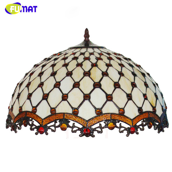 FUMAT Stained Glass Lamp European Brief Art Glass Curtain Beads Pendant Lights Living Room Restaurant Suspension Light Fixtures