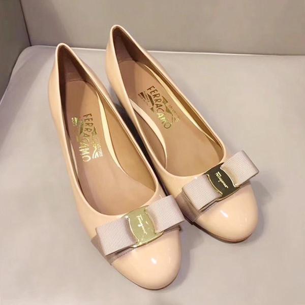 Womens Pumps Dress Shoes for Wedding Party 3.5cm Chunky Heel Vara Bow Pump Shoe Luxury Bombas de mujer Womens Shoes Fashion Pompe da donna