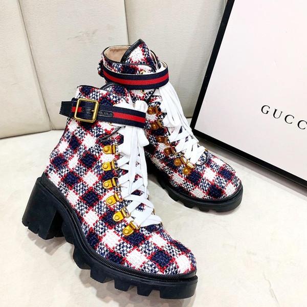 tüvit yarım bot, kutu ile lüks kadın deri bot, yüksek kaliteli bayan ayakkabı büyük boy Martin botları Sıcak kış kadın yüksek topuklu 26