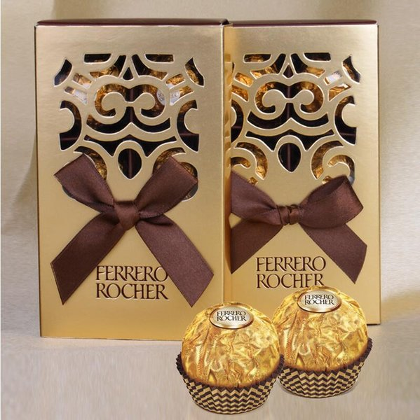 100pcs FERRERO ROCHER Boxes Wedding Favors Sweet Gifts Bags Party Supplies Baby Shower Ferrero Chocolate Candy Box LX6123