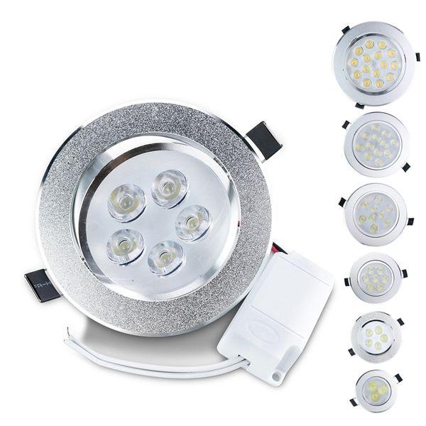 LED Downlight 3W 5W 7W 9W 12W 15W 15W Lámpara empotrada de techo LED 85-265V Incluye bombilla de luz LED para panel del controlador LED para luces de sala de estar