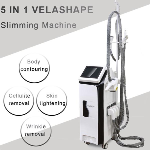 Pro 5in1 Vela Shape 40K cavitation velashape Vacuum Roller Slimming machine body arms face eye treatment