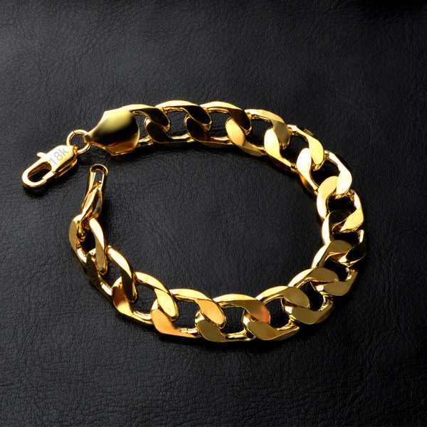18K Gold Plated Curb Cuban Link Chain Necklace Bracelet 3mm 4mm 5mm 6mm 8mm 10mm