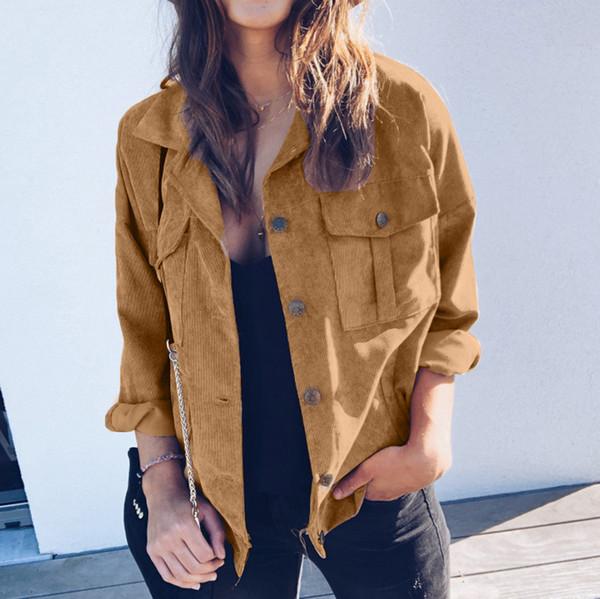 Fashion Long Sleeve Comfort Womens Coat Design Slim Classic Turn Down Collar Short Casual Button Down Women's Jacket