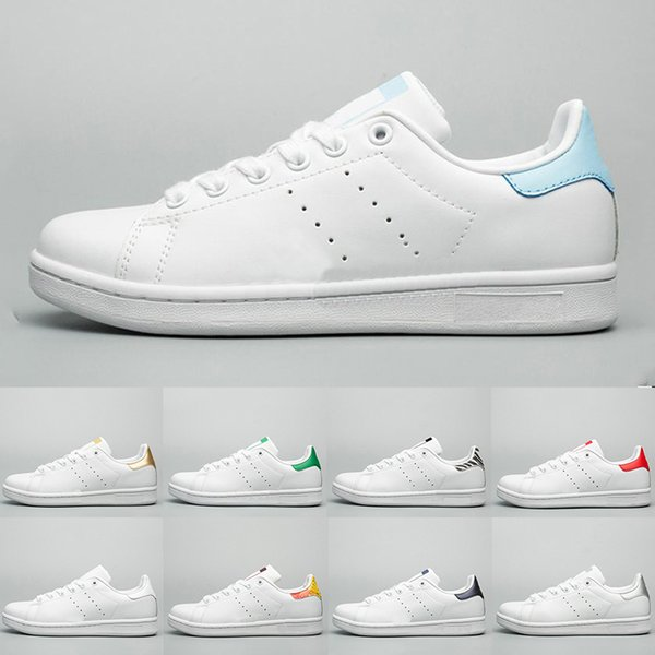 2019 Top qualité Luxury Designer stan smith Chaussures Femmes Hommes Mode Chaussures Classique Chaussures Casual Sneakers en cuir Taille Jogging 36-45