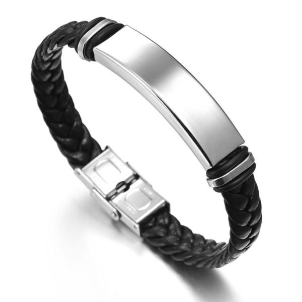 Luxury mens Bangles 316L Titanium steel Men Hip hop bracelet for man 21cm men Charm Bracelets gift for birthday Father husband boyfriend