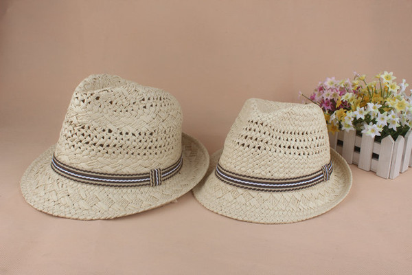 23b98d47 Jazz Straw Hat Crochet British Style Men's And Women's Small Hats With Frilly  Lovers Hats Free
