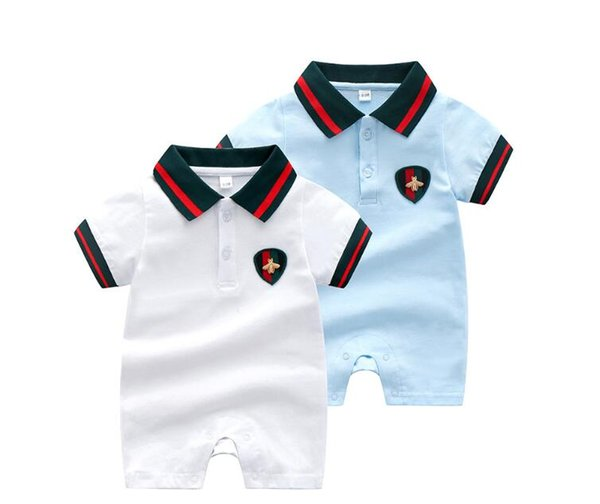 2020 Nuovi vestiti del bambino di arrivo Bambino cotone sottile risvolto, manica corta, lattice, vestito estivo per ragazzi e ragazze 62