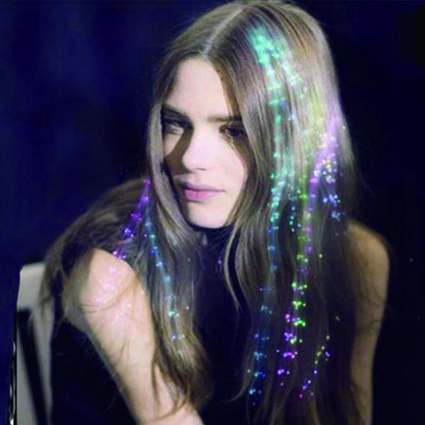 Glowing flash LED cheveux Braid Led cheveux lumières perruques clip clip Party Props Hairpin Halloween Décoration de Noël 24pcs / lot