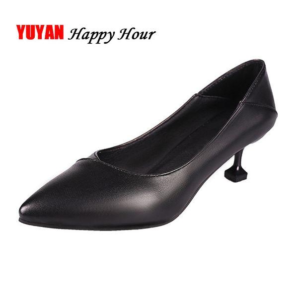 Dress Shoes High Heels Ladies Pointed Toe Sexy Office Ladies High Heel Fashion Womens Pumps Women Black Thin Heel 5cm A427