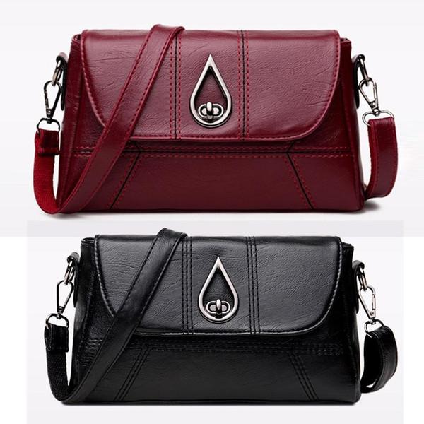 Fashion New Women Fashion Adjustable Strap Solid Square Shape Zipper Cover Shoulder Bag