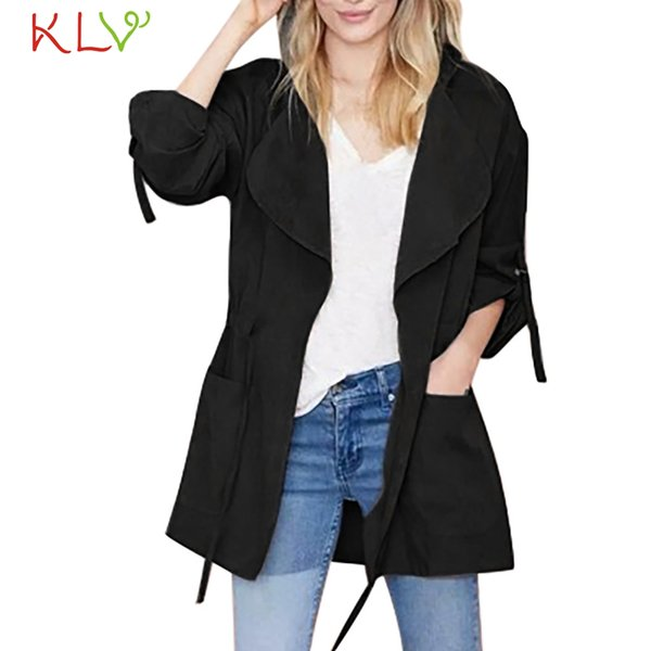 Women Jacket Hooded Long Sleeve Pockets Windbreaker Winter Party Casual 2019 Overcoat Casaco Feminino Girls Coats Plus Size 19Jl