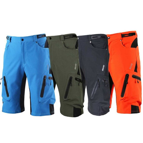 top popular Men's Mountain Bike Shorts Cycling Shorts Breathable Loose Fit For Outdoor Sports Running MTB Bicycle Short Trousers 2019
