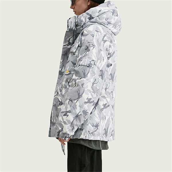 2019 Designer Brand Fashion Street Style Mens Womens Winter Coats Long Many Pockets Camouflage Velcro Warm Casual Hooded Jackets B101694V