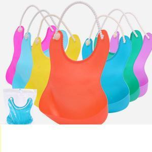 Cute Infant Bibs Baby Soft Silicone Bib Waterproof Saliva Dripping Bibs Bibs with Feeding Saliva Towel Baby Feeding Apron LJJR245