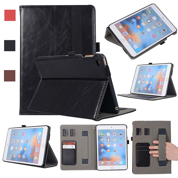 Classic Half Genuine Leather tablet Case For iPad Mini 4 pro 10.5 Shell Cover Case Shockproof PU Leather Case