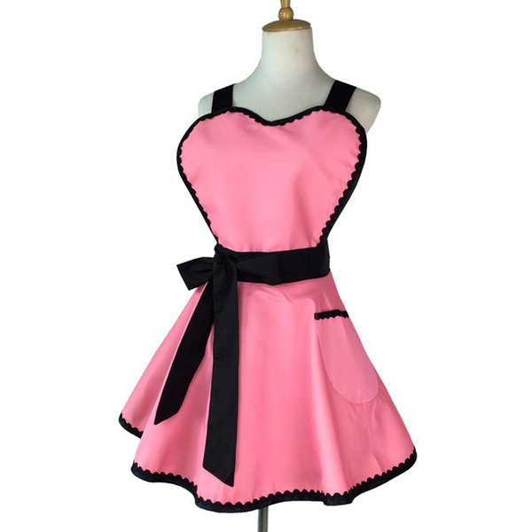 Color Black 63x70cm Polyester Classic Design Work Aprons Kitchen With Pockets