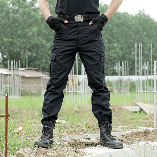 Schwarz Cargo Pants Armee Taktische Hosen Männer Arbeit Pantalones Combat SWAT Taktische Kleidung Camo Overalls Lässige Hose