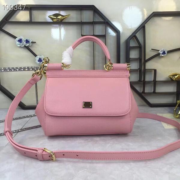 Genuine Leather Plain Totes Fashion Bag women Small size handbag Crossbody bag