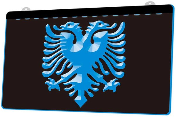 LS1076-b-Albanian-Eagle-Bar-Pub-Club-Logo-Neon-Light-Sign.jpg Decoración envío gratis Dropshipping Wholesale 8 colores para elegir
