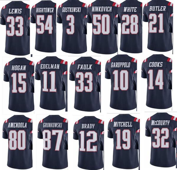 big sale 89925 35d84 2019 PATRIOT NEW ENGLAND #12 Tom Brady #87 Rob Gronkowski #11 Julian  Edelman #14 Brandin Cooks Men Women Youth Color Rush Elite Football Jersey  From ...