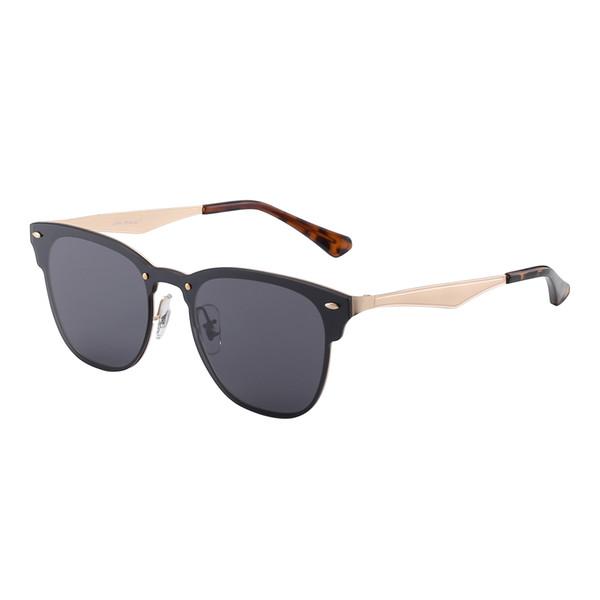 Free shipping - Top quality Sunglasses for Women Fashion Brand Designer Gold Metal Frame Black Colorful Sun glasses Eyewear