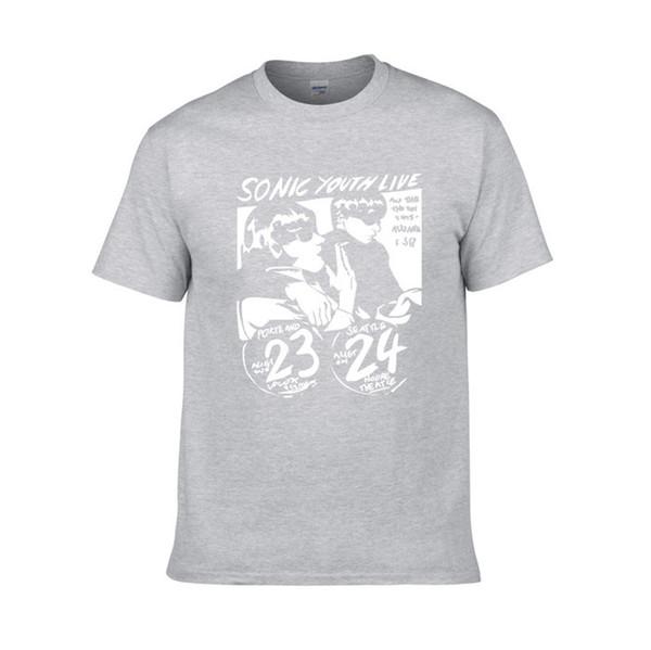 Sonic молодежная футболка мужская прикольная классическая рок-группа вокал басс-гитара панк-рок женская футболка с коротким рукавом T7
