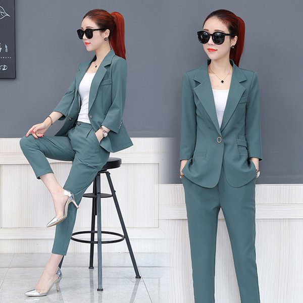 Customized the most popular business women's suits ladies suit two-piece suit (jacket + pants ) ladies dress office clothes