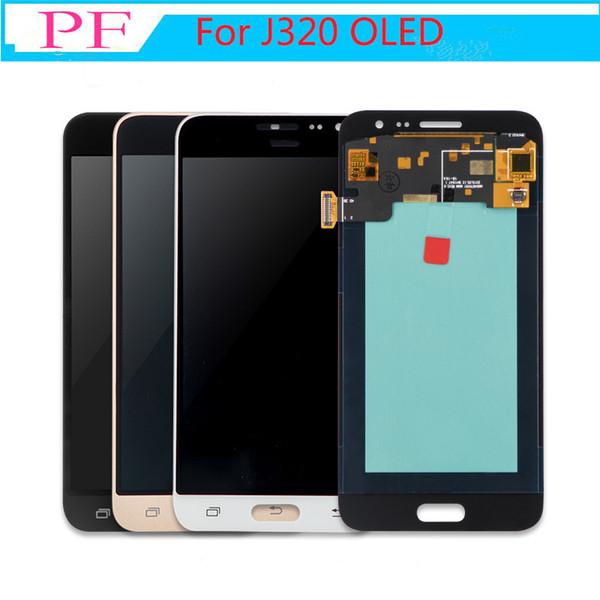 100% Тест Супер AMOLED ЖК-Дисплей Для Samsung Galaxy J3 2016 J320 J320F J320H J320M J320FN ЖК-Дисплей С Сенсорным Экраном Дигитайзер Ассамблеи